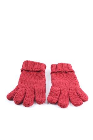 Blue Motion Rękawiczki z dzianiny czerwony Warkoczowy wzór W stylu casual
