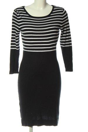 Blue Motion Gebreide jurk zwart-wit gestreept patroon casual uitstraling