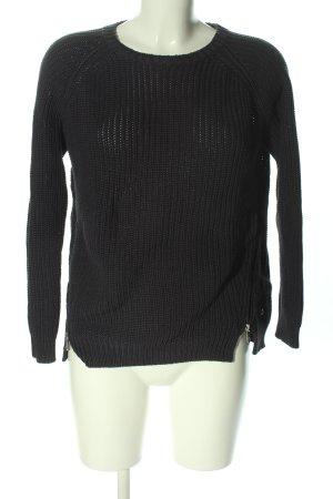Blue Motion Sweter z dzianiny czarny W stylu casual
