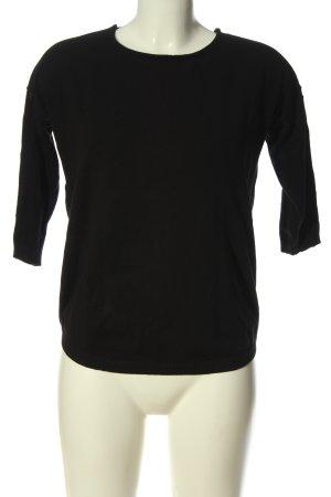 Blue Motion Pull tricoté noir style décontracté
