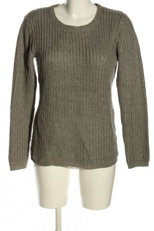 Blue Motion Strickpullover khaki Zopfmuster Casual-Look