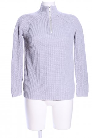 Blue Motion Strickpullover hellgrau Zopfmuster Casual-Look
