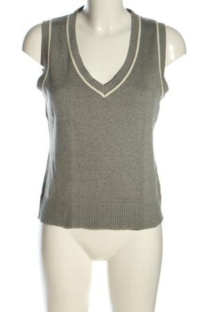 Blue Motion Top lavorato a maglia grigio chiaro puntinato stile casual