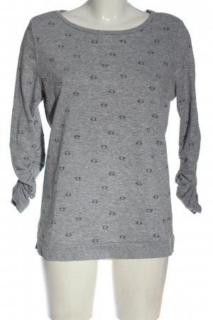 Blue Motion Sweatshirt hellgrau Allover-Druck Casual-Look