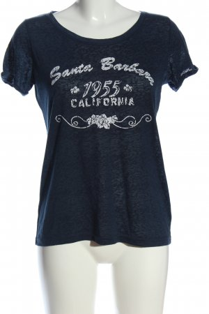 Blue Motion T-shirt blu puntinato stile casual