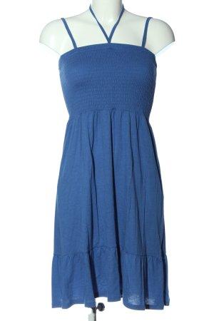 Blue Motion Robe à bretelles bleu style décontracté