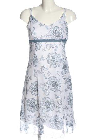 Blue Motion Robe à bretelles blanc-noir imprimé allover style décontracté