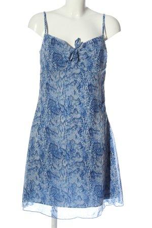 Blue Motion Robe à bretelles bleu imprimé allover style décontracté