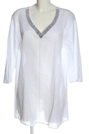 Blue Motion Transparenz-Bluse weiß-silberfarben Casual-Look