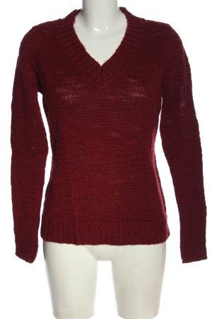 Blue Motion V-Ausschnitt-Pullover rot meliert Casual-Look