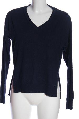 Blue Motion V-Ausschnitt-Pullover blau Casual-Look