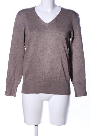 Blue Motion V-Ausschnitt-Pullover braun meliert Casual-Look