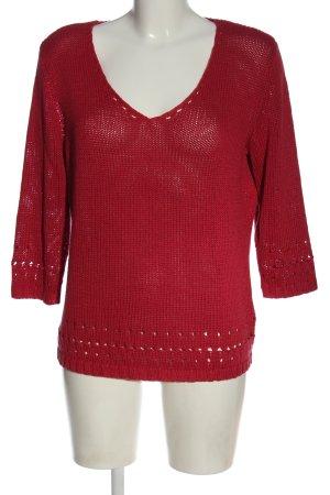 Blue Motion V-Ausschnitt-Pullover rot Casual-Look