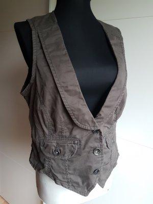 Blue Motion Spijkervest grijs-bruin-donkerbruin