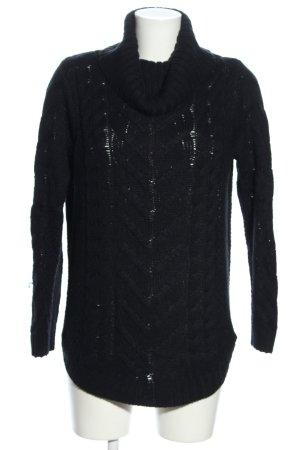 Blue Motion Warkoczowy sweter niebieski Warkoczowy wzór W stylu casual