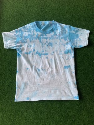Koszulka typu batik jasnoniebieski-biały