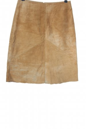 Blue One Leather Skirt brown business style