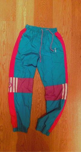 Blue pink tracksuit pants, vintage activewear, 80s windbreaker…