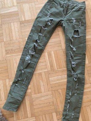 Blue Rags Jeans/Skinny - Destroyed - DarkGreen/Khaki - 34 XS/S