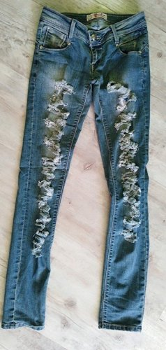 Blue Rags - Ripped Jeans Skinny - Destroyed - BlueDenim - Größe 34 XS/S - Mesh