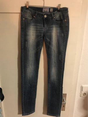 Blue Rags Pantalon taille basse bleu