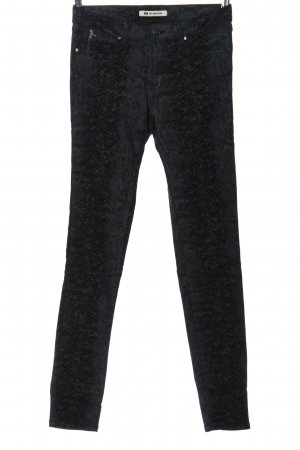 Blue Ridge Denim Pantalon strech noir-bleu motif animal style décontracté