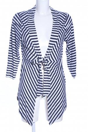 Blue Seven Cardigan blue-white striped pattern casual look