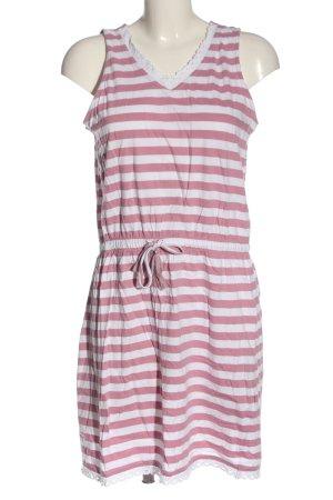 Blue Seven Mini Dress pink-white striped pattern casual look