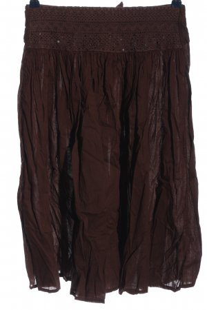 Blue Seven Flared Skirt brown casual look