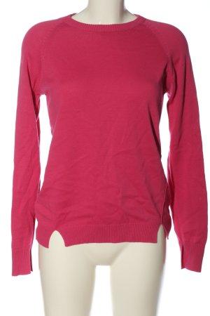 Blue Seven Kraagloze sweater roze casual uitstraling