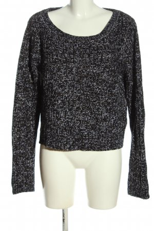 Blue Seven Crewneck Sweater black-white flecked casual look