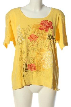 Blue Seven T-Shirt primrose themed print casual look