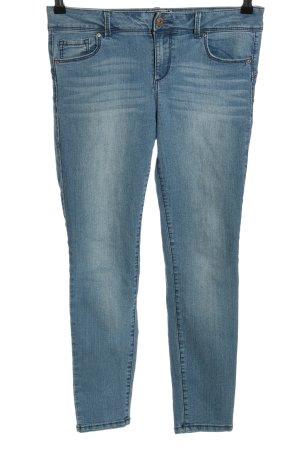 Blue Spice Jeans 7/8 bleu style décontracté