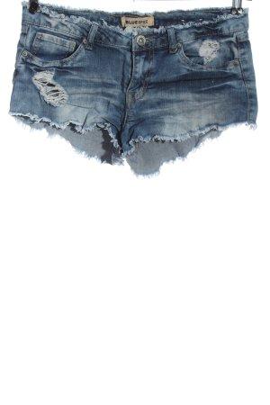 Blue Spice Pantalón corto de tela vaquera azul look casual