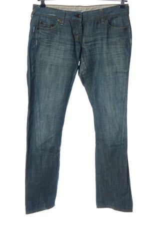 Blue Strenesse Jeansy biodrówki niebieski W stylu casual