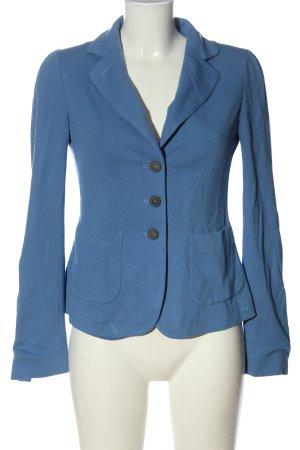 Blue Strenesse Korte blazer blauw zakelijke stijl