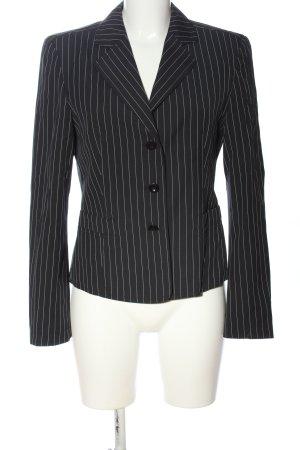 Blue Strenesse Kurz-Blazer schwarz-weiß Streifenmuster Business-Look