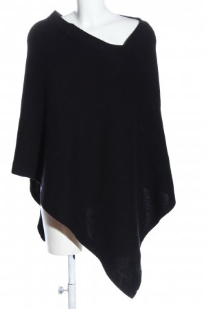 Blue Strenesse Poncho zwart casual uitstraling