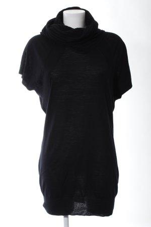 Blue Strenesse Camisa de cuello de tortuga negro look casual