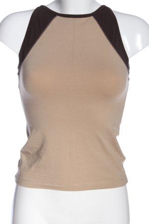 Blue Strenesse Top z cienkimi ramiączkami w kolorze białej wełny-brązowy