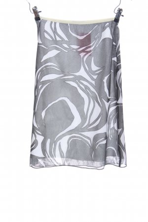 Blue Strenesse Stretch rok wit-lichtgrijs abstract patroon casual uitstraling