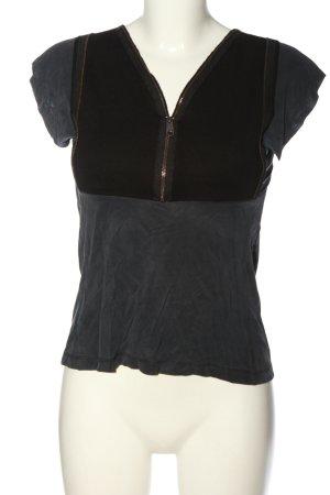 Blue Strenesse Gebreid shirt lichtgrijs-zwart casual uitstraling