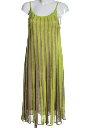 Blue Strenesse Sukienka na ramiączkach zielony-brązowy Wzór w paski