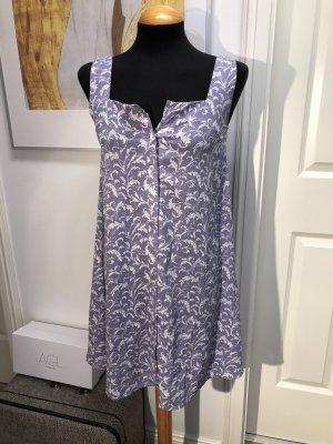 Blue Vanilla  Kleid Vintage Style Knöpfe Flieder Ranken ❤️ XS 34