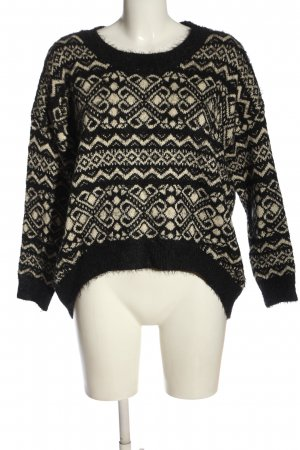 blue vanilla Crewneck Sweater black-natural white abstract pattern casual look