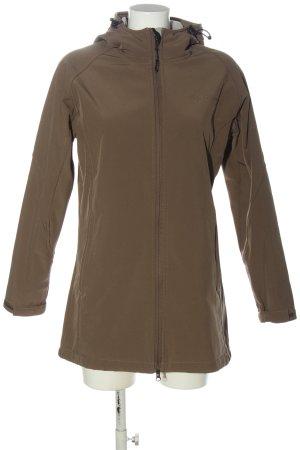 Blue Wave Between-Seasons Jacket brown embroidered lettering casual look