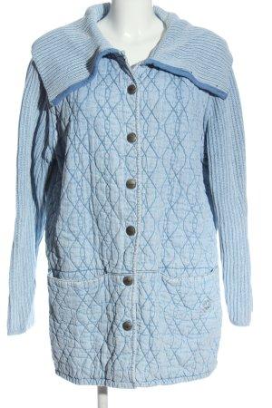Blue Willi's Cappotto mezza stagione blu motivo trapuntato stile casual