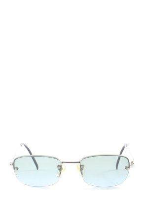 Bluebay Hoekige zonnebril blauw casual uitstraling