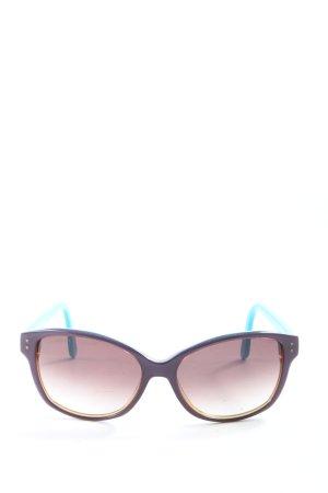Bluebay ovale Sonnenbrille blau-braun Casual-Look