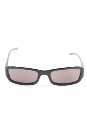 Retro Brille schwarz Casual-Look